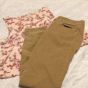 Gap Women's Legging Jean Corduroy Pants Size 30r